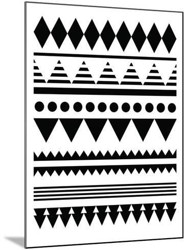 Geometric Art 12-Pop Monica-Mounted Art Print