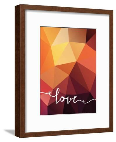 Geometric Love Orange--Framed Art Print