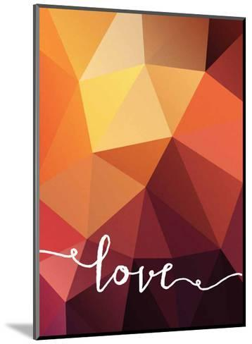 Geometric Love Orange--Mounted Art Print