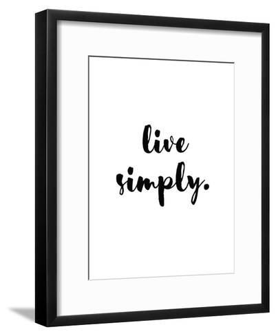 Live Simply-Pop Monica-Framed Art Print