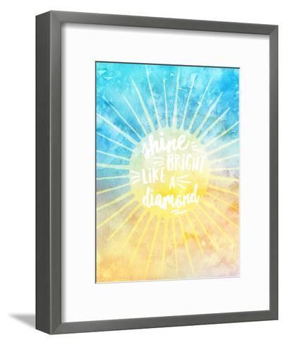 Shine Bright Like A Diamond-Amy Brinkman-Framed Art Print