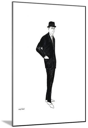 Untitled (Male Fashion Figure), c. 1960-Andy Warhol-Mounted Art Print