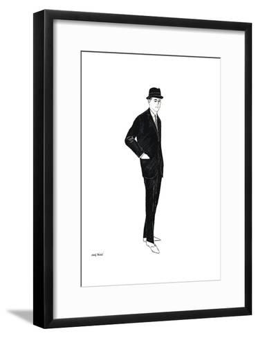 Untitled (Male Fashion Figure), c. 1960-Andy Warhol-Framed Art Print