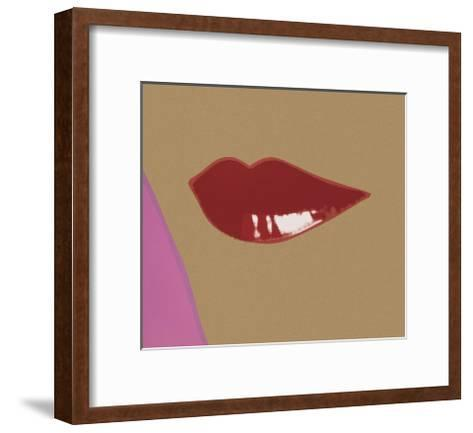 1 page from Lips Book, c. 1975-Andy Warhol-Framed Art Print