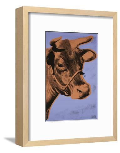 Cow, 1971 (purple & orange)-Andy Warhol-Framed Art Print