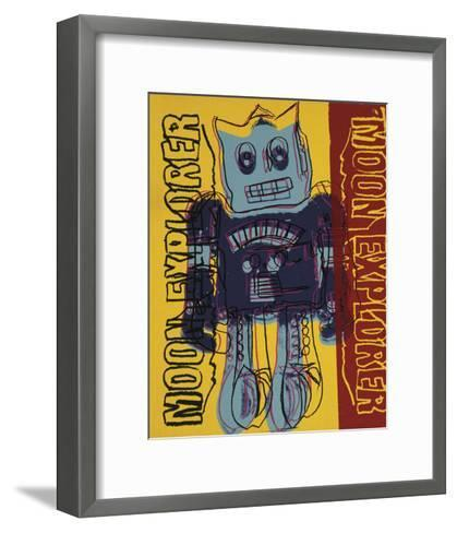 Moon Explorer Robot, 1983 (blue & yellow)-Andy Warhol-Framed Art Print