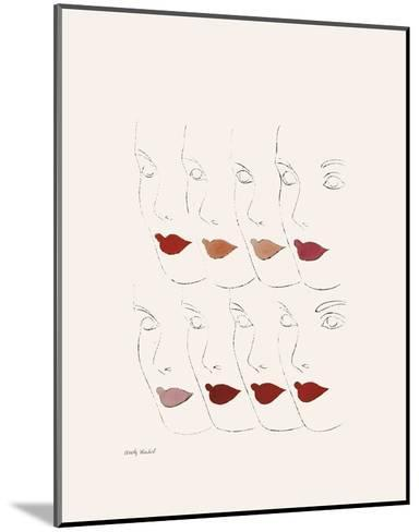 Untitled (Female Faces), c. 1960-Andy Warhol-Mounted Art Print