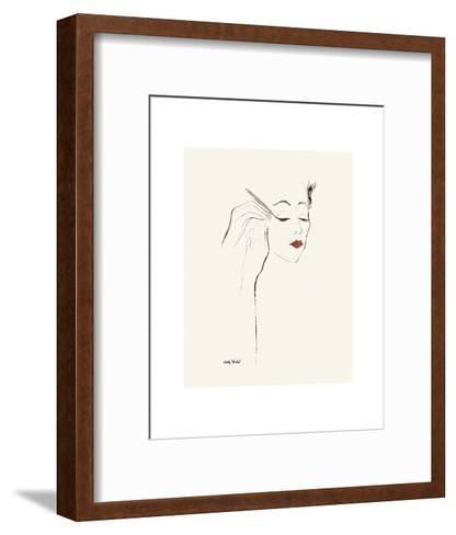 Untitled (Female Head and Hands Applying Eyeliner), c. 1955-Andy Warhol-Framed Art Print