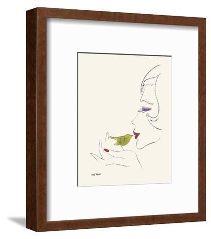 Untitled (Female Head), c. 1958-Andy Warhol-Framed Art Print