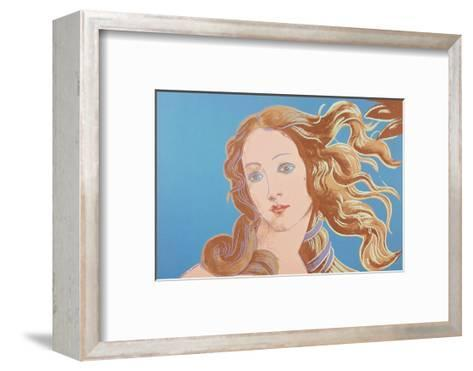 Details of Renaissance Paintings (Sandro Botticelli, Birth of Venus, 1482), 1984 (blue)-Andy Warhol-Framed Art Print