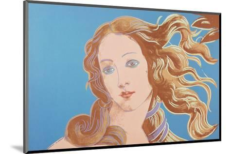 Details of Renaissance Paintings (Sandro Botticelli, Birth of Venus, 1482), 1984 (blue)-Andy Warhol-Mounted Art Print