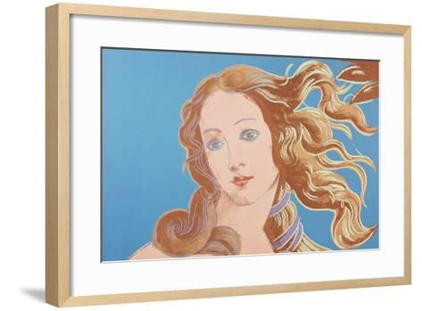 Details of Renaissance Paintings (Sandro Botticelli, Birth of Venus, 1482), 1984 (blue)-Andy Warhol-Framed Art Print