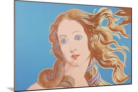 Details of Renaissance Paintings (Sandro Botticelli, Birth of Venus, 1482), 1984 (blue)-Andy Warhol-Mounted Art Print