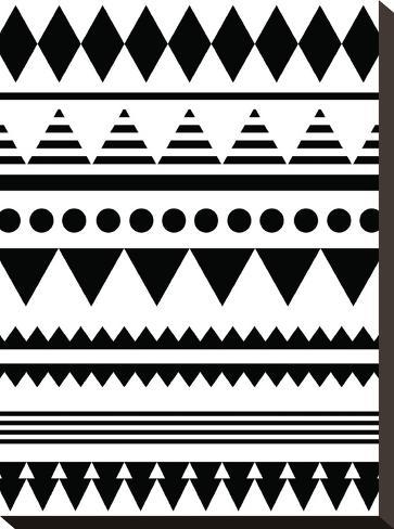 Geometric Art 12-Pop Monica-Stretched Canvas Print