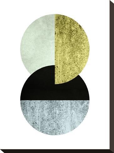 Geometric Art 17-Pop Monica-Stretched Canvas Print