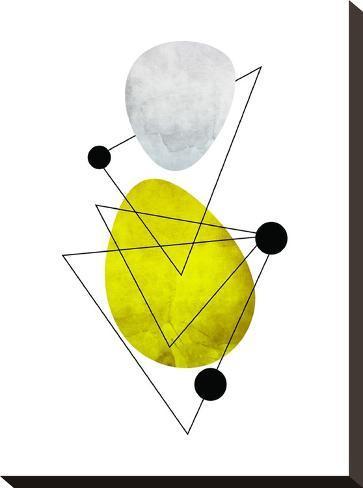 Geometric Art 36-Pop Monica-Stretched Canvas Print