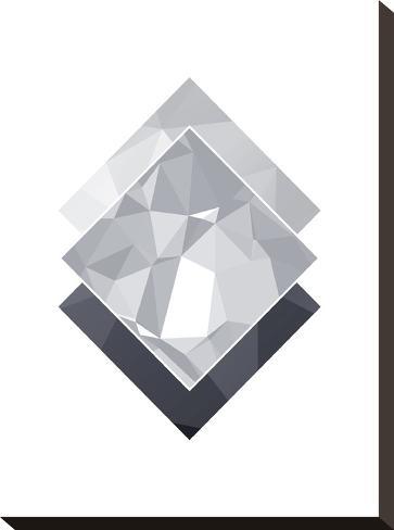 Geometric Art 45-Pop Monica-Stretched Canvas Print