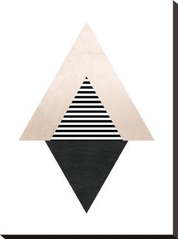 Geometric Art 56-Pop Monica-Stretched Canvas Print
