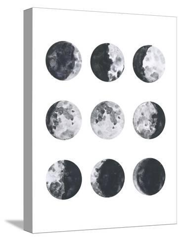 Moon Phases Watercolor I-Samantha Ranlet-Stretched Canvas Print