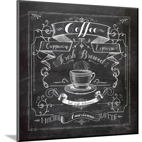 Chalkboard Coffee-Washburn Lynnea-Mounted Art Print