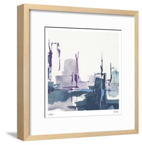 City Indigo III-Chris Paschke-Framed Art Print