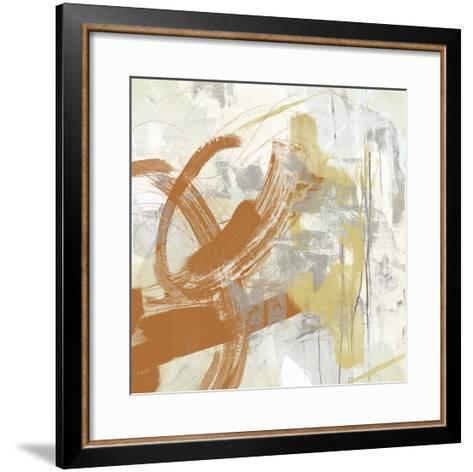 Tangerine & Grey IV-June Erica Vess-Framed Art Print