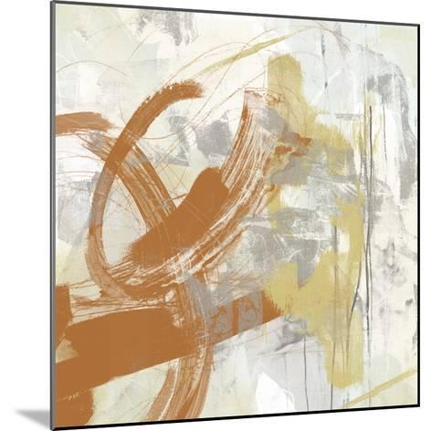 Tangerine & Grey IV-June Erica Vess-Mounted Art Print