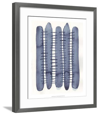Indigo Stitchy II-Nikki Galapon-Framed Art Print