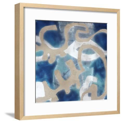 Indigo Tribal I-Jennifer Goldberger-Framed Art Print