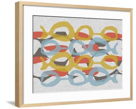 Mid Century Pattern I-Jennifer Goldberger-Framed Art Print