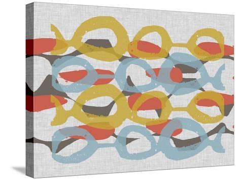 Mid Century Pattern I-Jennifer Goldberger-Stretched Canvas Print