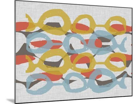 Mid Century Pattern I-Jennifer Goldberger-Mounted Art Print