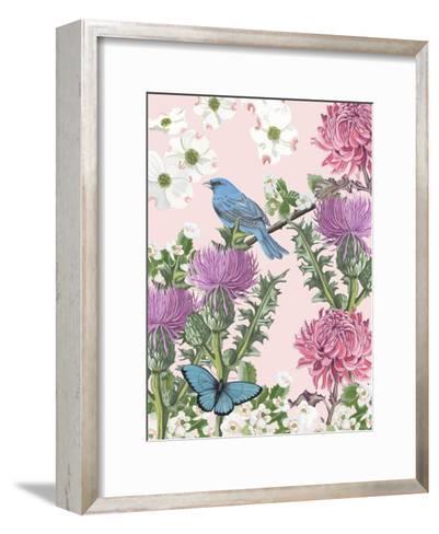 Bird Garden IV-Naomi McCavitt-Framed Art Print