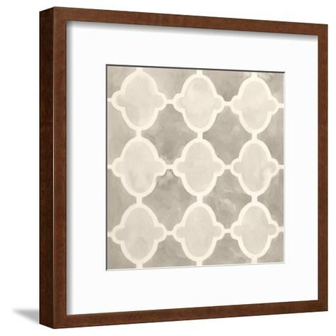 Neutral Watercolor Tile II-June Erica Vess-Framed Art Print