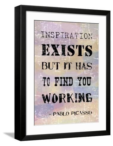 Picasso Inspiration Quote-Veruca Salt-Framed Art Print