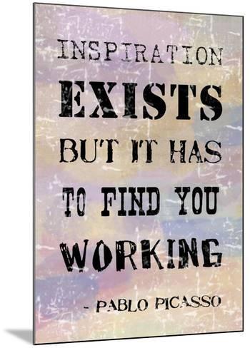 Picasso Inspiration Quote-Veruca Salt-Mounted Art Print