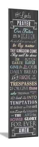 The Lord's Prayer - Chalkboard-Veruca Salt-Mounted Art Print