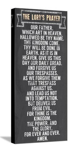 The Lord's Prayer - Chalkboard Style-Veruca Salt-Stretched Canvas Print