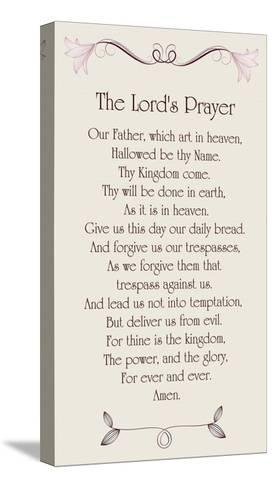 The Lord's Prayer - Floral-Veruca Salt-Stretched Canvas Print