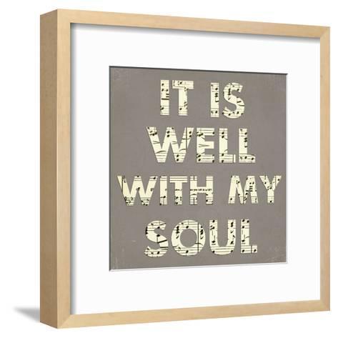 It Is Well With My Soul - Gray-Veruca Salt-Framed Art Print