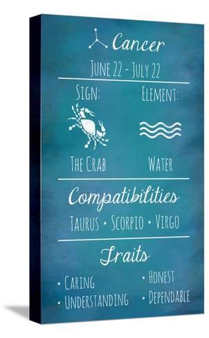 Cancer Zodiac Sign-Veruca Salt-Stretched Canvas Print