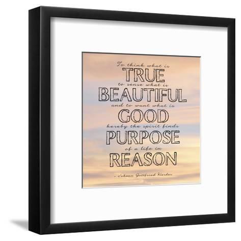 Life in Reason square-Veruca Salt-Framed Art Print