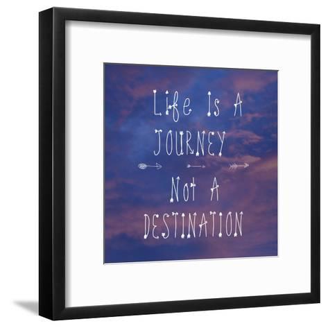 Life Is a Journey-Veruca Salt-Framed Art Print