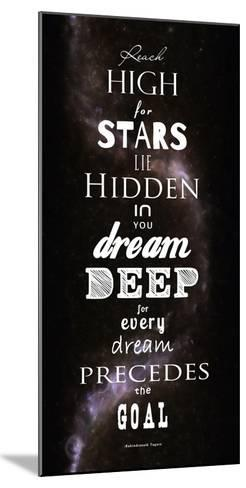 Reach High for Stars-Veruca Salt-Mounted Art Print
