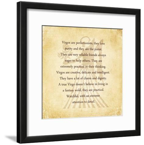 Virgo Character Traits-Veruca Salt-Framed Art Print
