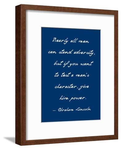 A Man's Character-Veruca Salt-Framed Art Print