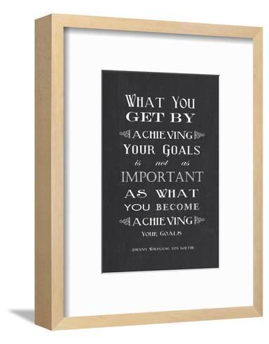 Achieving Your Goals-Veruca Salt-Framed Art Print