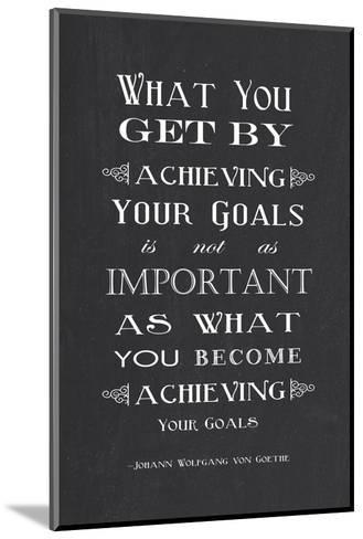 Achieving Your Goals-Veruca Salt-Mounted Art Print