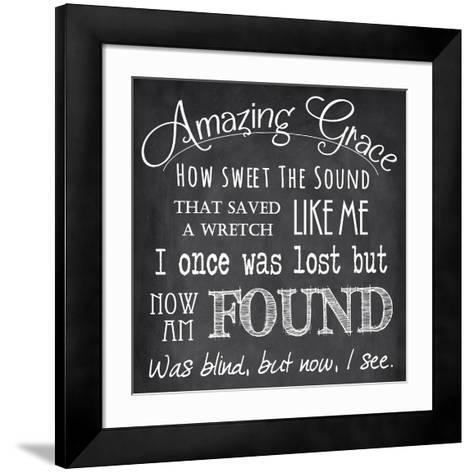 Amazing Grace Chalkboard-Veruca Salt-Framed Art Print