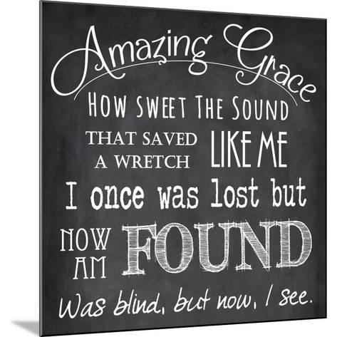 Amazing Grace Chalkboard-Veruca Salt-Mounted Art Print